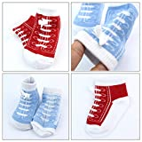 6 Pairs 0-6 month Baby Cotton Sneaker Newborn Ankle