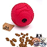 PetFun Dog Large Soft Novel Smart Challenging Dispenser Treat TPR Round Waggle Ball Toy