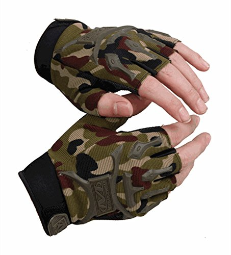 Eforbuy Seals Tactical Outdoor Anti Cut Half Refers to Military Enthusiasts American Men and Women Is Prevented Bask in Thin Movement Cycling Fitness Gloves, Hunting and Biking Gloves(one Size Fits All) (camouflage color)