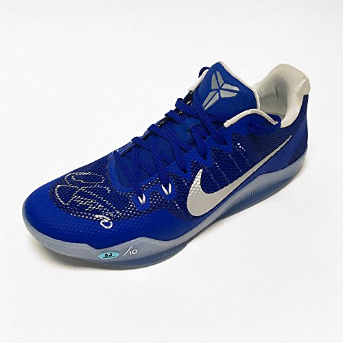 AJ Sports World Demar DeRozan Autographed Nike Kobe Zoom Blue Basketball Shoe -