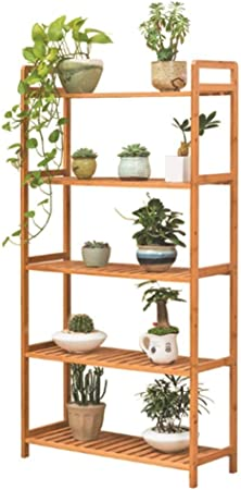 HLR-Soportes para Plantas Soporte para Flores De Bambú Bajo Techo Estantería Decorativa para Macetas con 5 Niveles Jardin Escalera para Plantas: Amazon.es: Hogar