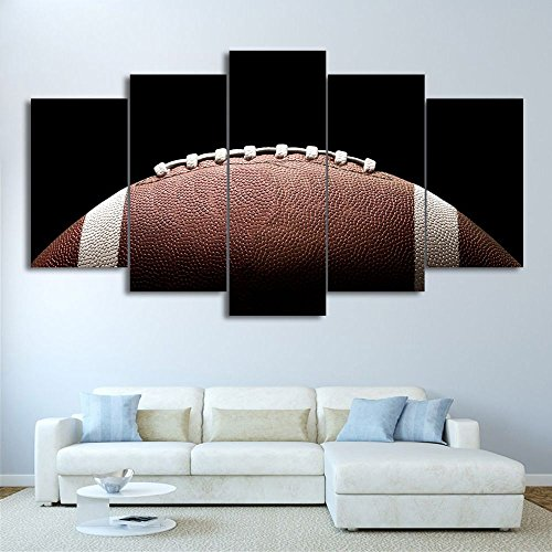 Canvas Art Football Oil Paint Wall Pictures Decoration Framed Modular Painting 5 Panels With Framed by Garth