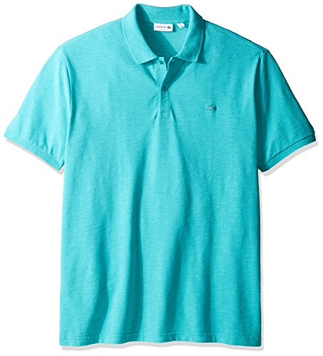 Lacoste Men's Short Sleeve Garment Dyed Vintage Slim Fit Polo Shirt, PH8984, Bermuda Dyed, M
