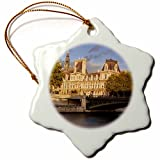 3dRose orn_136341_1 Setting Sunlight on Hotel De Ville, Paris, France EU09 BJN0644 Brian Jannsen Snowflake Ornament, Porcelain, 3''