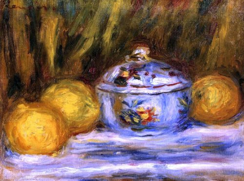 - Pierre Auguste Renoir Sugar Bowl and Lemons - 21.1