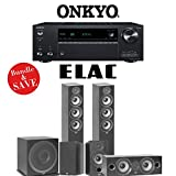 Elac F5.2 Debut 2.0 5.1-Ch Home Theater Speaker System with Onkyo TX-NR787 9.2-Channel 4K Network AV Receiver