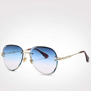 ZHOUYF Gafas de Sol Azul Rojo Gafas De Sol De Aviación ...
