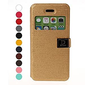 AES - Solid Color Leather Case with Holder for iPhone 5C(Assorted Colors) , Green