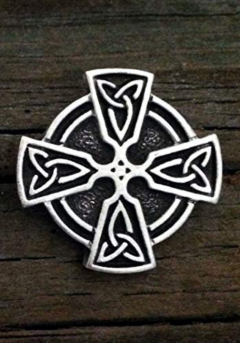2 Celtic Cross Trinity Knot Pewter Shank Buttons 1 Inch (25 mm) ()