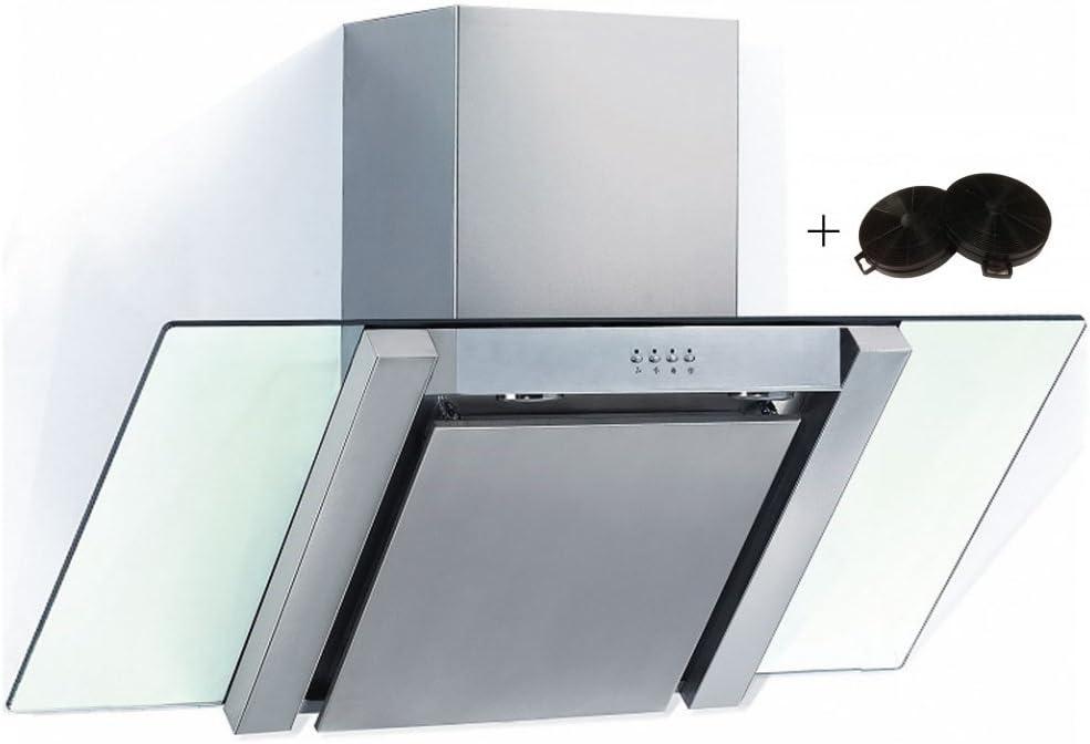 cookology by thewrightbuy ang900gl – Ángulo de cristal – Campana extractora (90 cm, acero inoxidable con el filtro de recirculación: Amazon.es: Grandes electrodomésticos