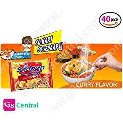 Mi Sedaap Kari Ayam, CHICKEN CURRY Flavor Noodle 100% HALAL 72g, Pack of 40