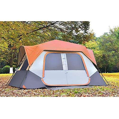 Yantong Instant Cabin Tent Camping/Traveling Family Tent Lightweight Rainfly with Mud Mat