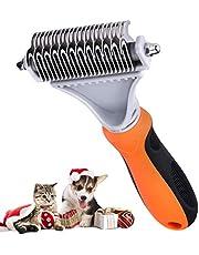 TOPELEK-Spazzola per Animali Domestici, Pettine Gatto Pelo Lungo,Spazzola Cane, Acciaio Inox Animale Domestico Sicuro Lame, Toelettatura Professionale