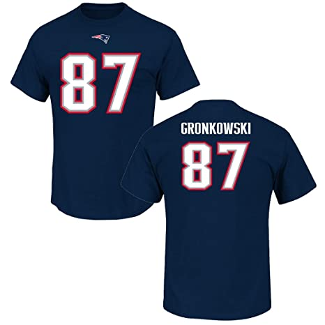 best sneakers ba8f6 c2582 Majestic Rob Gronkowski New England Patriots Navy Big & Tall Name and  Number T-Shirt