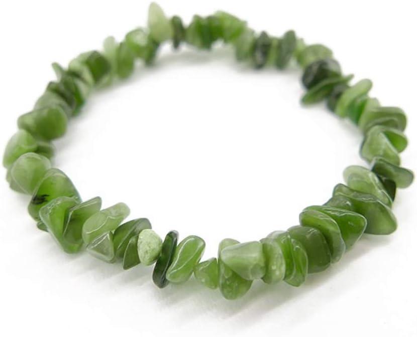 Pulsera Chip de Jade Nefrita Minerales y Cristales, Belleza Energética, Meditacion, Amuletos Espirituales