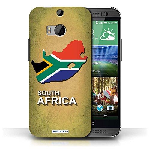 Kobalt® Imprimé Etui / Coque pour HTC One/1 M8 / Afrique du Sud/Afrique conception / Série Drapeau Pays
