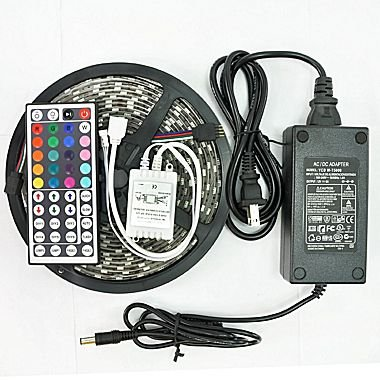 IP65 300 LED Water Resistant Flexible Strip Light - 16.4 feet and with Remote -  Supplier Generic, 0064740972847