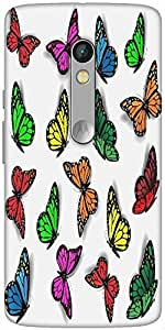Snoogg Colorful Butterflies Designer Protective Back Case Cover For Motorola ...