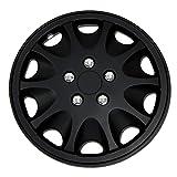 98 buick park avenue rim cap - TuningPros WSC-028AB15 Hubcaps Wheel Skin Cover 15-Inches Matte Black Set of 4
