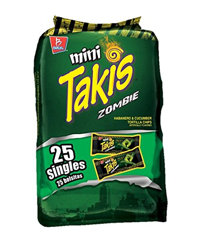 Mini Takis Zombie NITRO Flavor 25 Bags (1.2 Oz Each) by Barcel