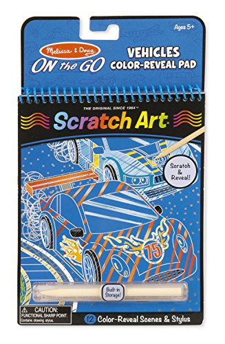 Melissa & Doug On the Go Scratch Art Color-Reveal Pad – Vehicles