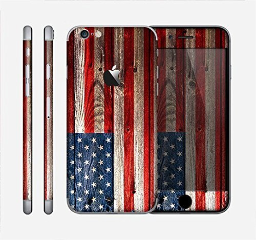 The Wooden Grungy American Flag Skin for the Apple iPhone 6