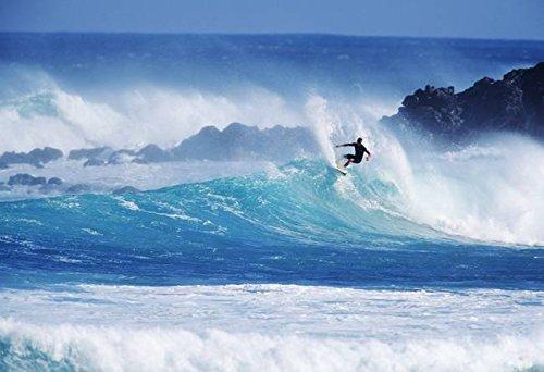Wall Art Print entitled Hawaii, Maui, Hookipa Beach Park, Pavillions, Surf by Design Pics | 23 x - Maui Hookipa