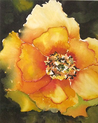 Amazon.com: Watercolor Flower,Yellow Wall Art, Yellow Flower Art ...