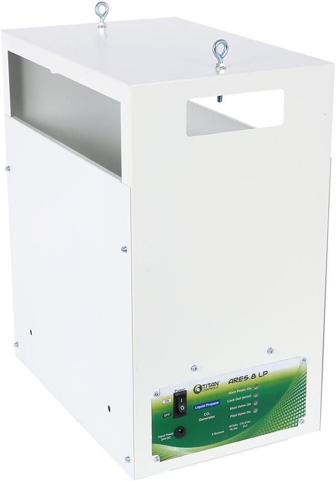 Titan Controls Ares 8 - Carbon Dioxide (CO2) Generator LP - 21.2 CUFT/HR, Liquid Propane, 8 Burner, White
