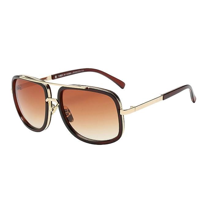 JiaMeng Gafas de sol rectangulares Unisex Gafas de Sol ...