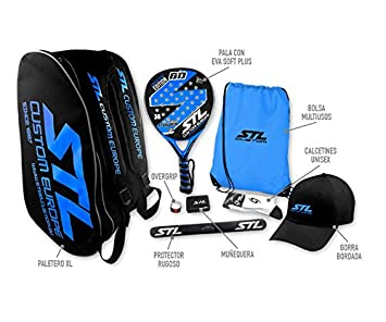 Pack de Padel Steel Custom GD Edición Limitada Eva Soft Plus Azul: Amazon.es: Deportes y aire libre