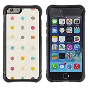 Suave TPU GEL Carcasa Funda Silicona Blando Estuche Caso de protección (para) Apple Iphone 6 / CECELL Phone case / / Dot Pattern Clean Band-Aid Pastel /
