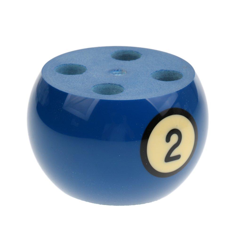 MagiDeal Billar Titular de Pluma de Bola para Mesa de Visualización - Número y Color se Envié al Azar