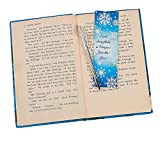 Bargain World Snowflake Pen & Bookmark Sets (With Sticky Notes)
