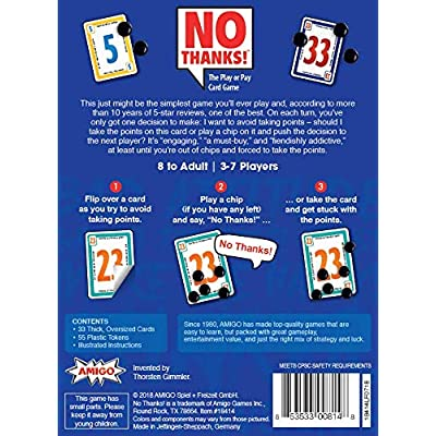 AMIGO Games 18414 No Thanks! Card Game: Toys & Games
