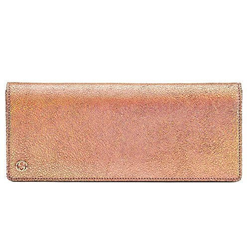 Gucci Broadway Crackled Metallic Leather Clutch Bag 342630 Rose (Gucci Leather Clutch)