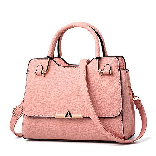 GWQGZ Bolso Clásico De Las Señoras Del Bolso De Las Señoras Minimalistas De La Manera Bolso De Hombro Clásico Dulce Del Caramelo De Color Caqui Pink