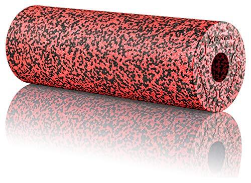 BODYMATE Faszienrolle Standard Mittel-Hart mit Gratis E-Book - Black/Pepper-Red 45x15cm