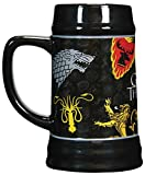 Game of Thrones 24 oz Beer Stein - House Sigil Coffee Mug - Large Collectible Sigil Beer Mug - Novelty GoT Tankard