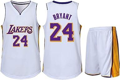Adecuado para Kobe Bryant NO.24 Los Angeles Lakers fanáticos niños niñas Camisetas de Baloncesto Adolescentes Adultos Ropa Deportiva Camisa Chaleco ...