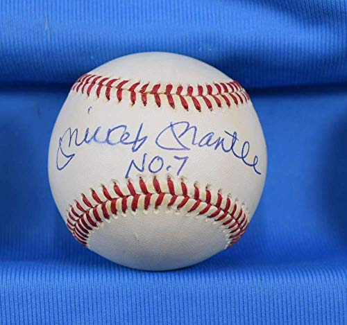 MICKEY MANTLE NO 7 PSA DNA Coa Autograph American League OAL Signed ()