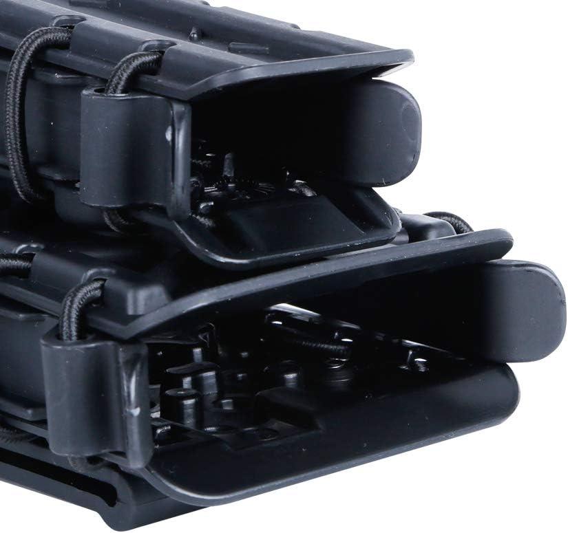 OAREA Pochette Tactique Fastmag Porte-revues pour Carabine Airsoft Softshell Molle Mag Carrier Pochette pour Chargeur de Fusil 9MM 5,56MM 45APS 7,62MM