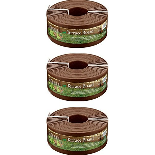 Master Mark Plastics 95340 Terrace Board Landscape Edging Coil, 5-inch x 40-Foot, Brown - 3
