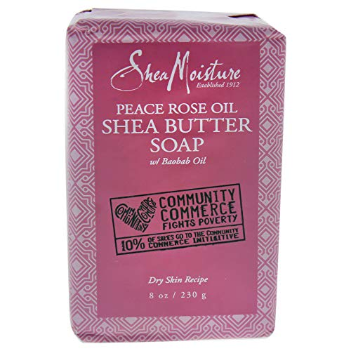 Shea Moisture Peace Rose Oil Bar Soap, 8 Ounce