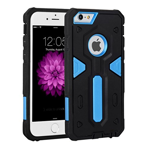 iPhone 6/6s Plus Case,I3C PC+TPU Shockproof Bumper Cover Case for iPhone 6/6s Plus Black+Blue