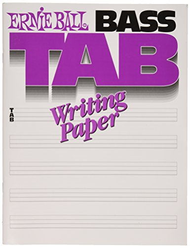Ernie Ball Bass Tab Writing Paper Bass Tab Paper