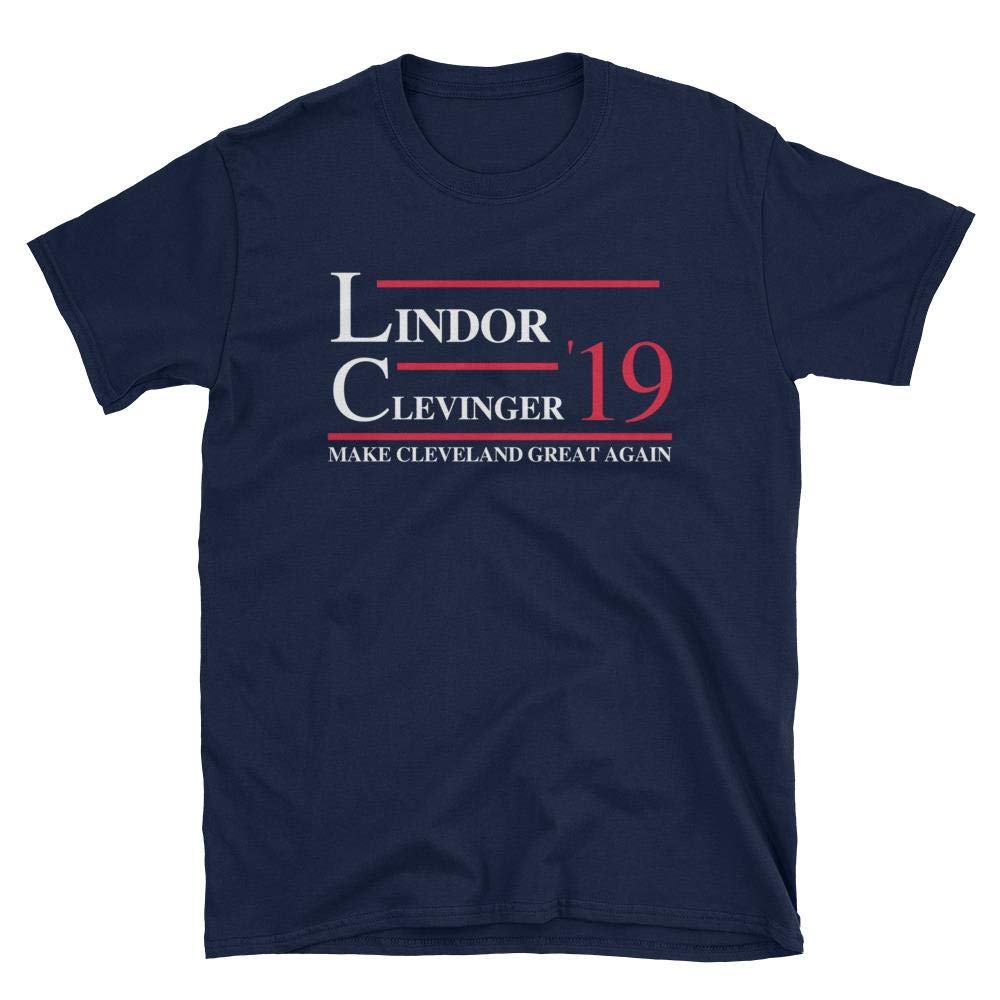 Amazon com : Lindor and Clevinger 2019 Make Cleveland Great