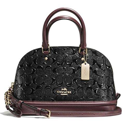 Black Patent Leather Coach Bag - 4
