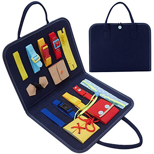 HAN-MM Busy Board Buckle Toys 14 PCS Montessori Toys Bag Now $9.00 (Was $29.99