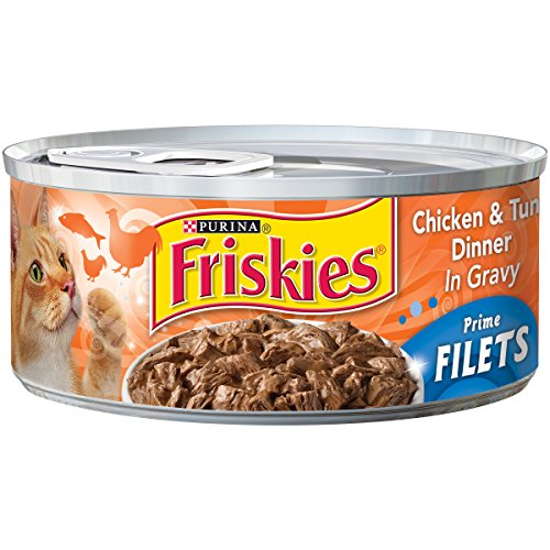 Friskies Wet Cat Food, Prime Filets, with Chicken & Tuna Din